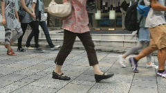 Japanese shoppers in Omotesando Stock Footage