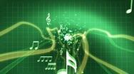 Stock Video Footage of Digital Green Music Background *loop*