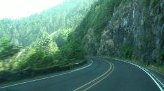 Oregon coast driving Stock Footage