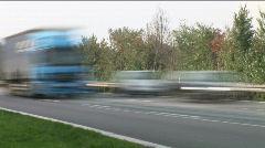HD1080p German Autobahn. Car Traffic (Time Lapse) - stock footage