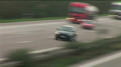 HD1080p German Autobahn. Black car persecution (Time Lapse) Stock Footage