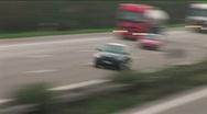 HD1080p German Autobahn. Black car persecution (Time Lapse) Stock Footage