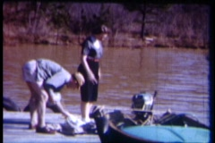 8mm boating 12 Stock Footage