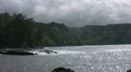 Stock Video Footage of Rocky Jungle Cove A
