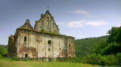 Abandoned Catholic churc Stock Footage