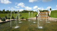 Fountains in Baroque Garden Stock Footage