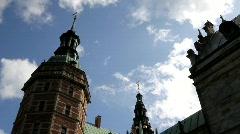 Summer Clouds over Frederiksborg Castle Stock Footage