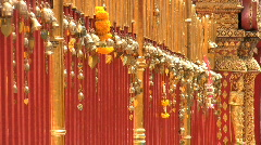 Gold Leaves Dangling At The Temple Stock Footage