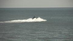 Patrol boat departing Stock Footage
