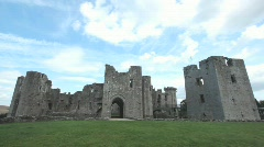 Raglan Castle Stock Footage