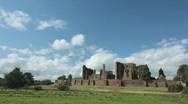 Stock Video Footage of Kenilworth Castle and Clouds