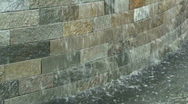Water Wall Stock Footage