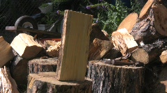 Wood chop 5 Stock Footage
