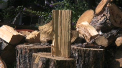 wood chop 3 Stock Footage