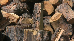 Wood split 1 Stock Footage