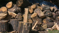 Wood split 2 Stock Footage