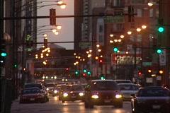 Chicago City Traffic Dusk - stock footage