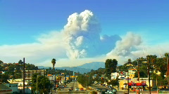 California Wildfire Time-lapse Composite Stock Footage