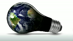 Planet earth in light bulb - HD  Stock Footage