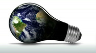 Stock Video Footage of Planet earth in light bulb - HD