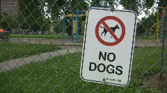 No dogs sign. Stock Footage