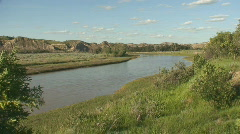 P00528 Little Missouri River in North Dakota Stock Footage