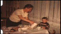 Coffe table (vintage 8 mm amateur film) Stock Footage