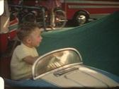 Merry-go-round (Vintage 8 mm amateur film) Stock Footage