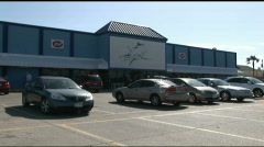 South Padre blue marlin supermarket exterior Stock Footage