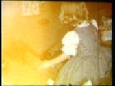 8mm girl with 45 player Stock Footage