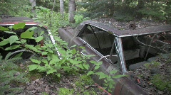 Old car rusted Stock Footage