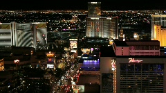 Las Vegas Strip at Night Arkistovideo