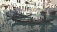 Stock Video Footage of Gondola Ride at the Venetian Hotel in Las Vegas