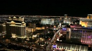 Stock Video Footage of Las Vegas Strip at Night – Time Lapse