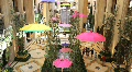 Inside of the Palazzo Hotel in Las Vegas with Umbrellas HD Footage