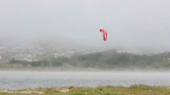 Parachute Surfing in Bodega Bay Stock Footage