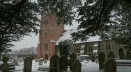 Stock Video Footage of Village church in deep snow