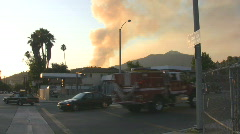 Los Angeles Wildfire 08/31/09 Stock Footage