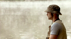 Fly Fisherman 236 - stock footage