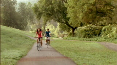 Couple on Bicycles 242 - stock footage