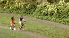 Couple on Bicycles 244 - stock footage