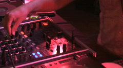 DJ hands - stock footage