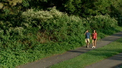 Young Couple in Park 248 - stock footage