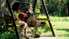 Playing Guitar 252 - stock footage