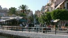 Downtown Agios Nikolaos Stock Footage