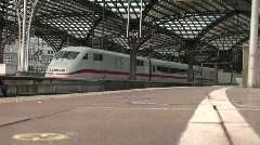 HD1080i German ICE, high-speed trains. Cologne Main Station. - stock footage