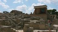 Knossos Palace Stock Footage