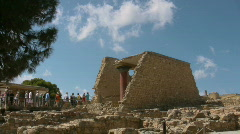 Knossos Palace Stock Footage
