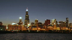 Chicago at Night 2 - stock footage