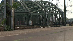 HD1080p Train at Cologne Rail Station Stock Footage